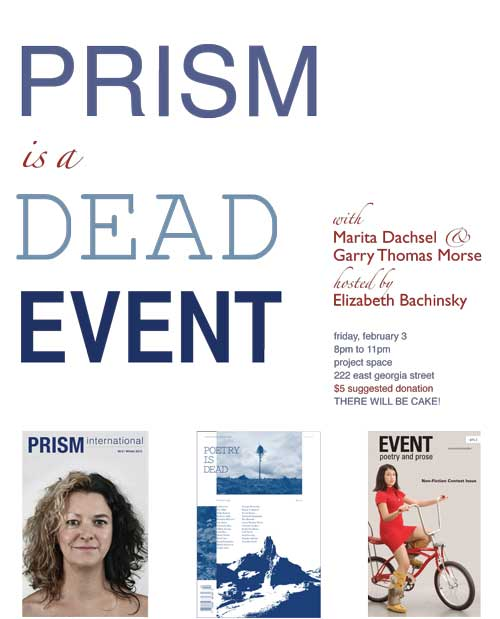 PRISM IS A DEAD EVENT POSTER